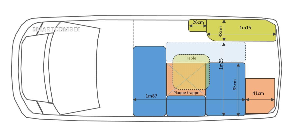 Relativ Kits d'aménagement fourgon - camping car - smartcombee KV26