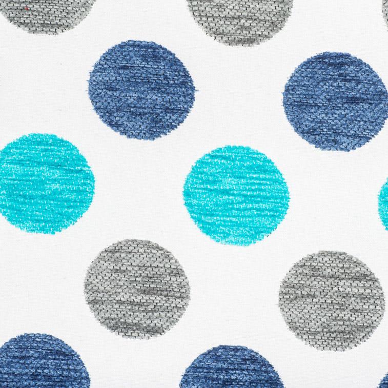 tissu-froca-pois-3-turquoise-gris