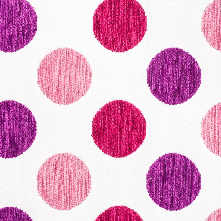 tissu-froca-pois-5-rose-violet